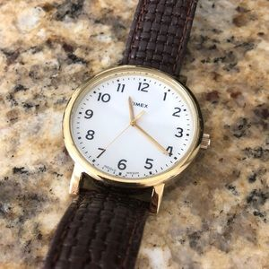 Timex brown leather watch